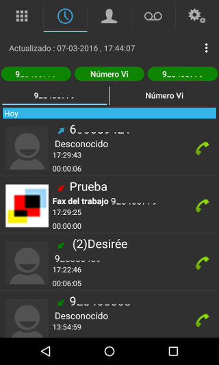 ver historial android